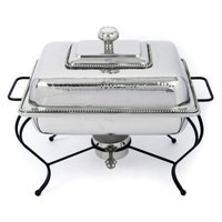 Star Home 6 Quart Rectangle Stainless Steel Chafing Dish