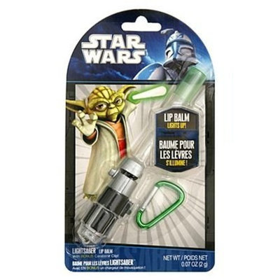 Star Wars Yoda Light Up Lip Balm Lightsaber with Carabiner Clip
