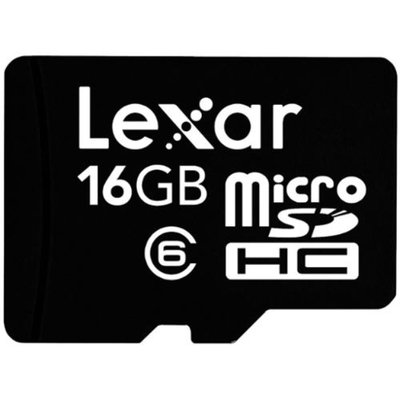 Lexar 16GB Class 6 microSDHC Mobile Flash Memory Card - Retail Hanging Package