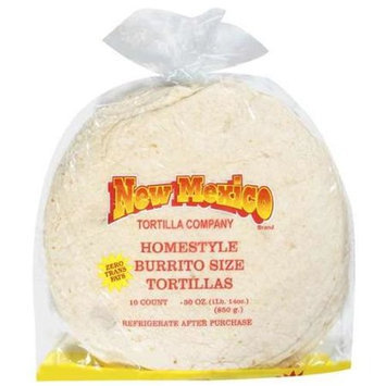 New Mexico Mexico: Homestyle Burrito Size Tortillas, 30 oz