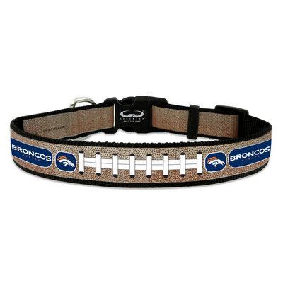 Game Wear Inc NFL Denver Broncos Reflective Dog Collar LG
