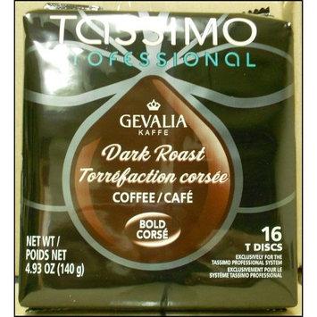 Tassimo Gevalia Proffessional Dark Roast T-Discs 16 count (Case of 5)