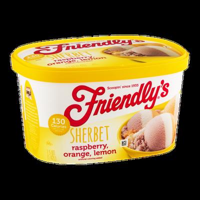 Friendly's Sherbet Raspberry, Orange, Lemon
