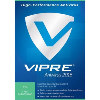 ThreatTrack VAV11Y2016ESD-0000US VIPRE Anti-Virus 2016, 1 PC, 1 Year (Email Delivery)