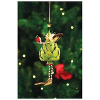 Patience Brewster Tin Artichoke Ornament - Krinkles Christmas Décor New 08-30426