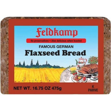 Feldkamp Flaxseed Bread, 16.75-Ounce Vacuum Packs (Pack of 12)