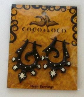 Horn Black Post Earring Large Coco Loco 1 Earring