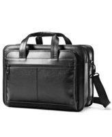 Samsonite Leather Business Cases Expandable Business Case - Black