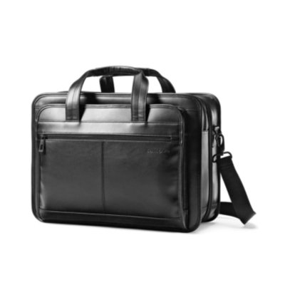 Samsonite Leather Business Cases Expandable Business Case - Black