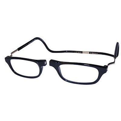 Impulse Clics CliC Magnetic Closure Reading Glasses XXL with Adjustable Headband Black 1.50