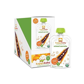 Happybaby Happy Baby Organic Baby Food 1 Starting Solids, Mixed Carrots, 3.5 oz (Pack of 16)