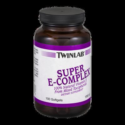 Twinlab Super E-Complex Dietary Supplement Softgels - 100 CT