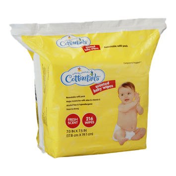 Cottontails Scented Baby Wipes Fresh Scent - 216 CT