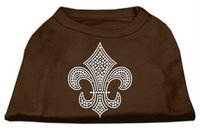 Ahi Silver Fleur de Lis Rhinestone Shirts Brown Med (12)