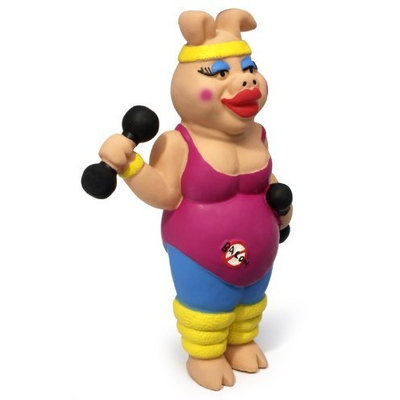 Charming Pet Products Large Piggy Sue Squeaky Latex Dog Toy