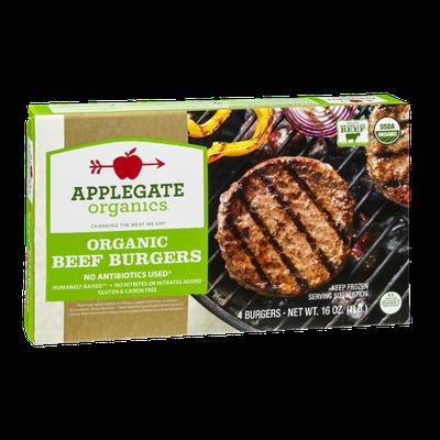 Applegate Organics Organic Beef Burgers - 4 CT