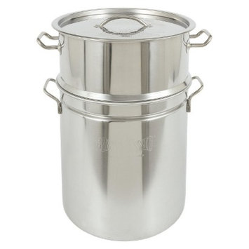 Barbour International Bayou Classic Stainless Stockpot & Steamer - 40 Qt.