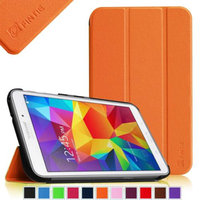 Fintie Smart Shell Case Ultra Slim Lightweight Stand Cover for Samsung Galaxy Tab 4 8.0 inch Tablet, Orange