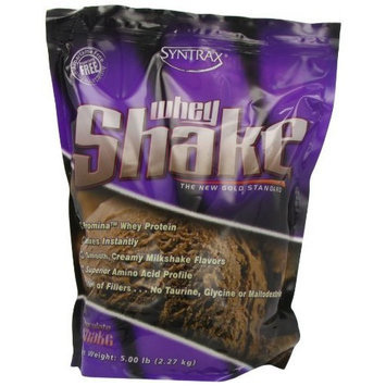 Syntrax Whey Shake, Chocolate Shake Powder, 5 Pounds