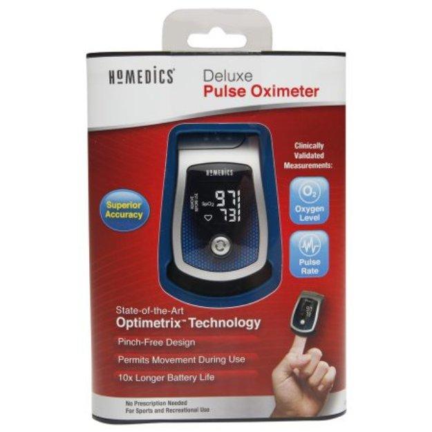 HoMedics Deluxe Pulse Oximeter, 1 ea