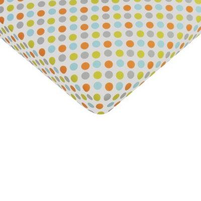 Sumersault Mix & Match Multi Dots Crib Sheet