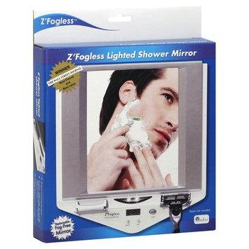 Zadro Z700W Fogless Lighted Shower Mirror With Clock