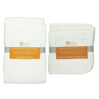 MU Kitchen Ultra Absorbent Microfiber Waffle Kitchen Towel and Dish Cloth Set -