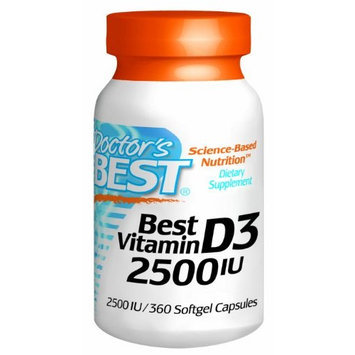 Doctor's Best Best Vitamin D3 2500iu, Soft Gels, 360-Count
