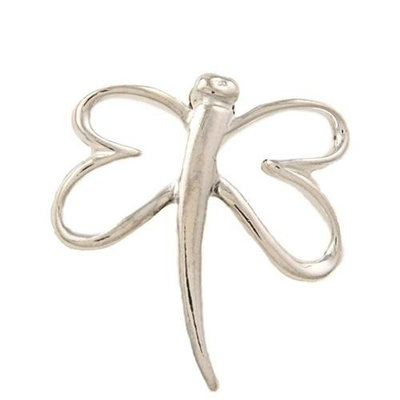 Silvermoon Sterling Silver Butterfly Outline Brooch