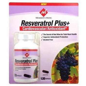 Members Mark Member's Mark Resveratrol Plus+ 120 Capsules