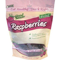 Good Sense Raspberries, 4 Ounce Bags (Pack of 4)