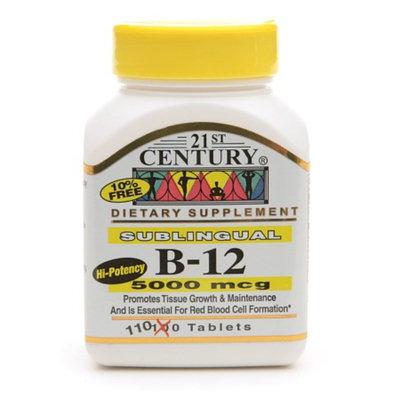 21st Century Sublingual Vitamin B-12 5000mcg