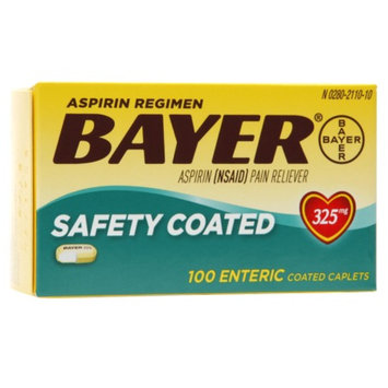 Bayer Aspirin Regimen, Safety Coated Enteric Caplets, 100 ea