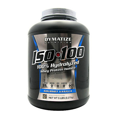 Dymatize Iso-100 100% Hydrolyzed Gourmet Vanilla Whey Protein Isolate