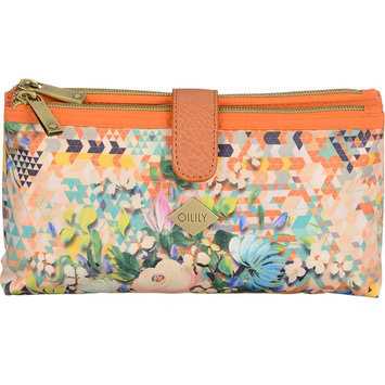 Oilily Double Flat Cosmetic Bag Blush - Oilily Ladies Cosmetic Bags