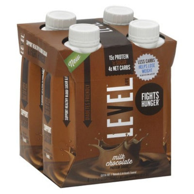 Level Life Chocolate Protein Shakes - 4 Count
