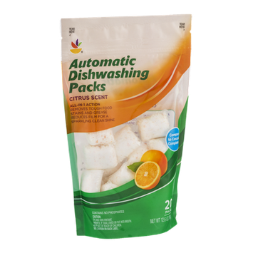Ahold Automatic Dishwashing Packs Citrus Scent - 20 CT