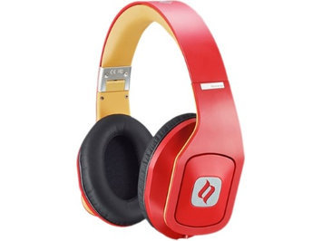 Noontec Hammo Over Ear Stereo Hi-Fi Stereo Headphones (Red)