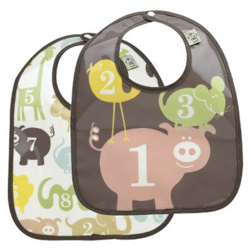 SugarBooger 2pk Bib Gift Set - Numbers