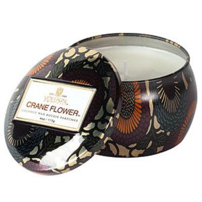 Voluspa Decorative Tin Candle, Crane Flower, 4 oz