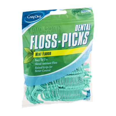 CareOne Dental Floss-Picks Mint Flavor - 90 CT