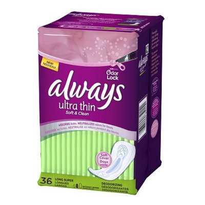 Always Ultra Thin Deodorizing Pads Long Super