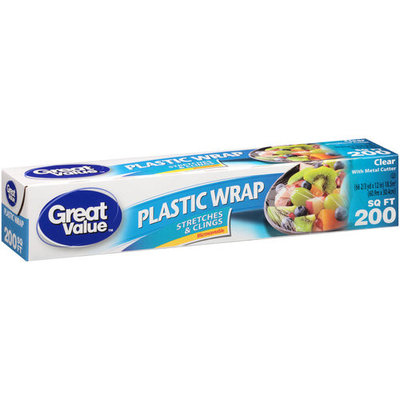 Great Value Clear Plastic Wrap, 200 sq ft