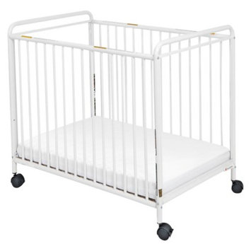 Foundations Chelsea Clearview Steel Crib - White