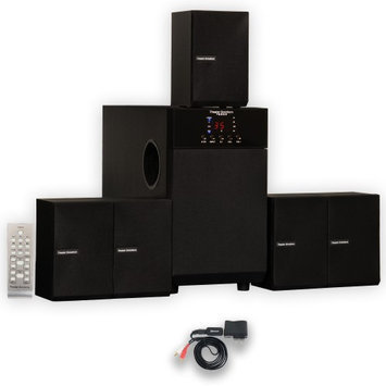 Theater Solutions 5.1 Speaker System Home Theater Multimedia Surround Sound with Bluetooth New TS509B