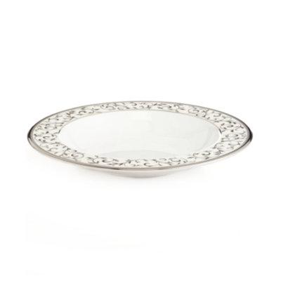 Lenox Opal Innocence Silver Rim Soup Bowl
