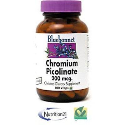 BlueBonnet Chromium Picolinate 200 mcg, 200 Vegetarian Capsules, 200 Count
