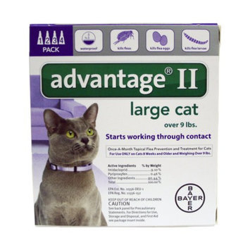 Advantage II Cat 9+ lbs, 4 Month, 4 ea