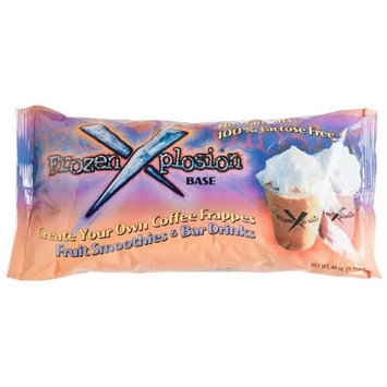 Frozen X-plosion Frozen Xplosion Frappe & Smoothie Base, Lactose And Trans Fat Free, 48-Ounce Bags (Pack of 12)