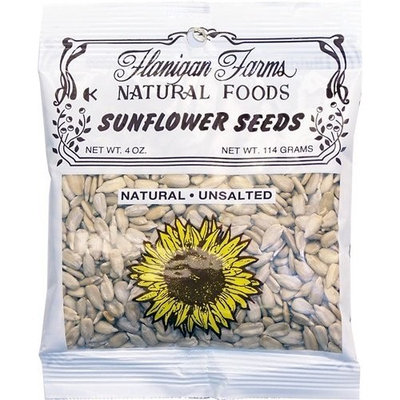 Flanigan Farms Natural Foods Sunflower Seeds, Raw, Unsalted 4oz (6 Pack)
